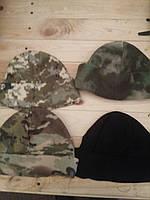 Шапка флис (камуфляж,черная,белая)