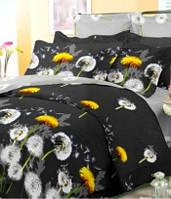 Полуторное постельное бязь 100% хлопок Черный одуванчик