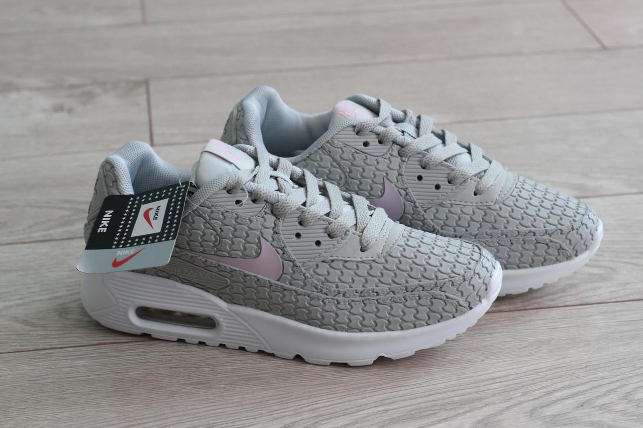 Кроссовки женские Nike air max цвет серый (реплика)