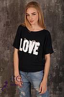 Трикотажные футболки с пайетками