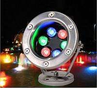 Подводный прожектор LED RGB IP68 6W 12V