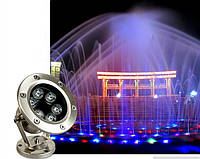 Подводный прожектор LED синий IP68 6W 12V