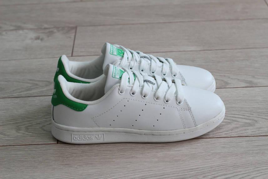 Кроссовки Adidas Stan Smith женские цвет белый материал кожа (реплика)