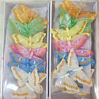 Декоративные перьевые бабочки 9 см