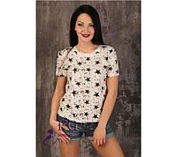 """Очень красивая и лёгкая футболка  """"Black Stars"""""""