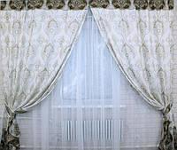 Красивый комплект штор для зала от производителя