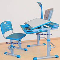 Комплект детская парта и стул, YK-18 + лампа