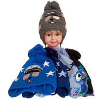 Вязаная шапочка (зима), для мальчика р-р 48-50