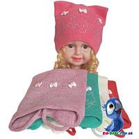 Вязаная шапочка (зима), для девочки р-р 50