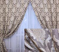 Модный комплект штор плотные качественный