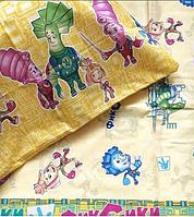 Комплект детского постельного белья бязь голд Фиксики, два цвета, 100% хлопок