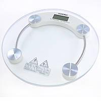 Весы на пол прозрачные 150 кг круглые