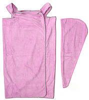 Полотенце-сарафан женское для сауны+шапочка 67х110. Модель Y-11