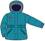 Зимний костюм для девочки PELUCHE F17 M 52 EF New Reef / Grape. Размеры 96 - 128., фото 3