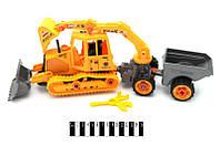 Детский трактор инерционный 123D с прицепом