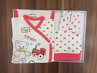 Подарочный набор для новорожденных Мишка розовый