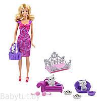 Набор кукла Барби и игровое место питомцев / Barbie Playtime for Kittens Box BCF80