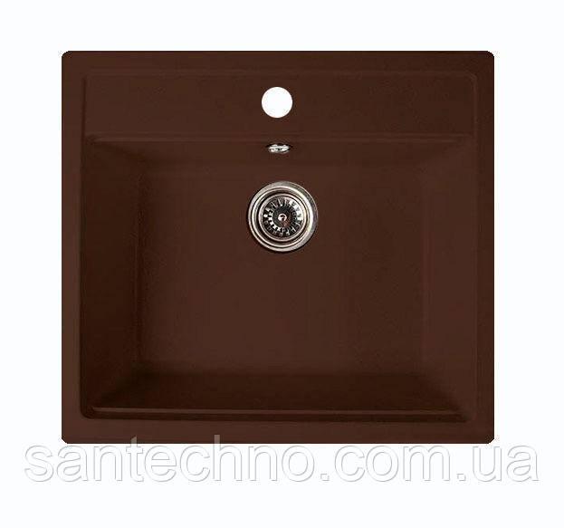 Мойка кухонная гранитная Argo Cubo Brown 590*500*200