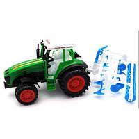 Детский трактор инерционный 0488-113 с прицепом
