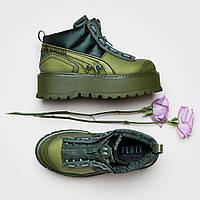 Женские ботинки Fenty Puma by Rihanna Zipped Sneaker Boots in Cypress/Green