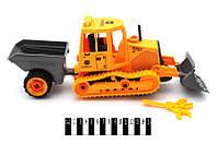 Детский трактор инерционный 84D с прицепом