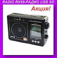 RADIO RX99-РАДИО USB SD,GOLON радиоприемник!Акция