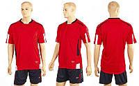 Футбольна форма ZA CO-2556-R (рзмір XXL, червоний, шорти чорні)