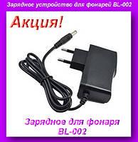 Зарядное устройство для фонарей BL-002,ЗАРЯДКА ДЛЯ ФОНОРЕЙ,ниверсальный сетевой адаптер для фонарей!Акция