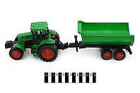 Детский трактор инерционный 798-А54 с прицепом