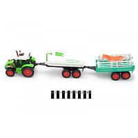 Детский трактор инерционный 2012-31 с прицепом