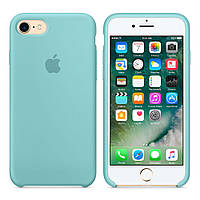 Чехол для iPhone 7/8/ iPhone SE 2020 Silicone Case бампер (Sea Blue)