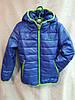 Куртка подростковаядемисезонная Columbia для мальчика8-12 лет,синяя