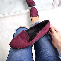 Только 38 размер! Женские стильные туфли лоферы Fetish марсала