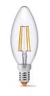 Лампа Videx Filament C37F 4W E14 3000K 220K, фото 2