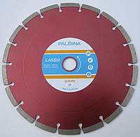 Алмазный диск для резки, твердого гранита PALMINALASER GRANITE P Segment 230x2,8/2,0x8/18Sx22 КРАСНЫЙ