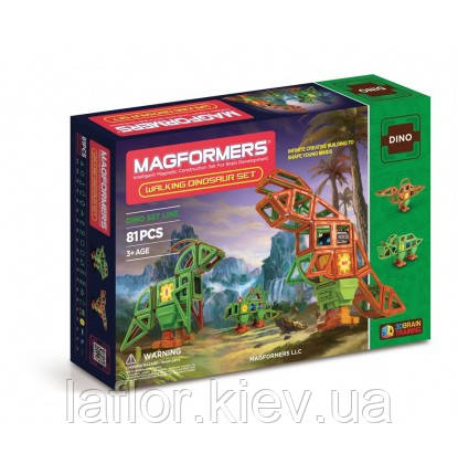 Магнитные конструкторы ТМ Magformers Оживший динозавр 81 элементов