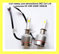 Led лампы для автомобиля UKC Car Led c цоколем H1 33W 4500K 3000LM
