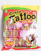 Жевательная резинка Crazy tattoo 100 штук