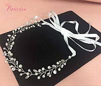 Прекрасное свадебное украшение в волосы (ободок), ручная работа (Hand Made)