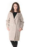 Пальто женское большого размера бежевое