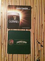 Бирдекель подставка под пиво Guinness и виски Jameson