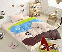 Комплект постельного белья поплин Тм Таg евро размер art05