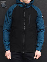Весенне-осенняя куртка Staff - Soft shell a4 black denim Art. BRZ0029 (чёрный | синий)