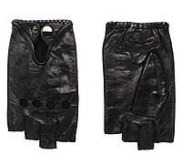 Перчатки кожаные мужские без пальцев, размеры норма (Китай) купить оптом в Одессе на 7 км