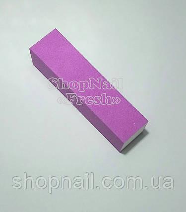 Баф для ногтей 4-х сторонний, фиолетовый, фото 2