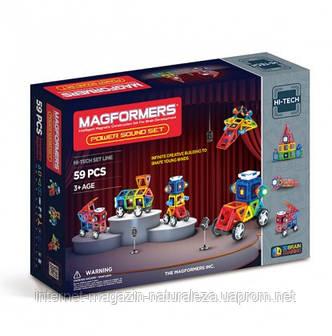 Конструктор магнитный ТМ Magformers Сила звука 59 элементов, фото 2