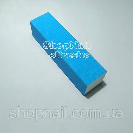 Баф для ногтей 4-х сторонний, голубой, фото 2