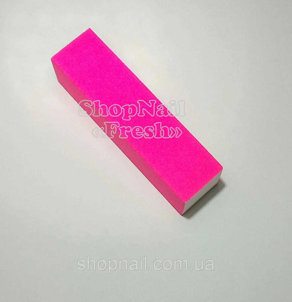 Баф для ногтей 4-х сторонний, розовый
