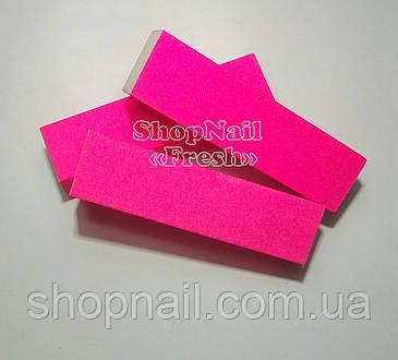 Баф для ногтей 4-х сторонний, розовый, фото 2