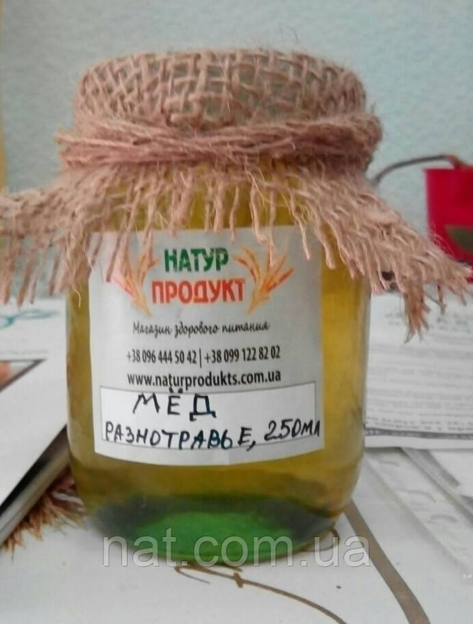 Мед разнотравье первой качки (акация+липа+фацелия), 500 мл